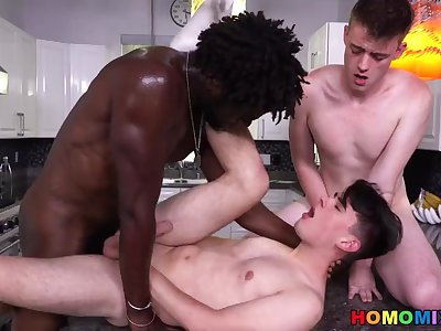 White Gay Couple Craving For BBC