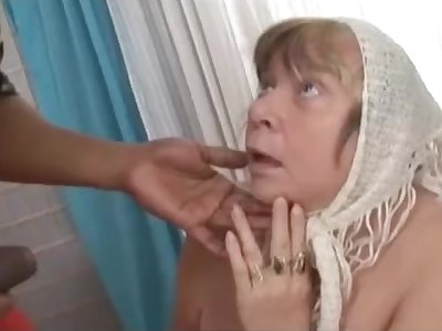Big black cock creampies granny with big tits