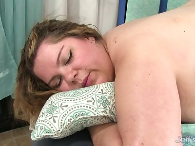BBW Gets Her Body, Twat and Ass Massaged