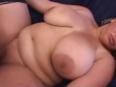 Latina BBW with huge tits gets a creampie