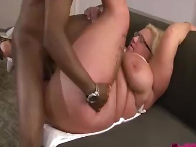 Married Secretary Squirts for Young Client