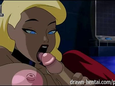 Canary in Justice League have sex