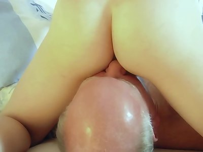 Slutty young maids old cock footjob and 69 sex
