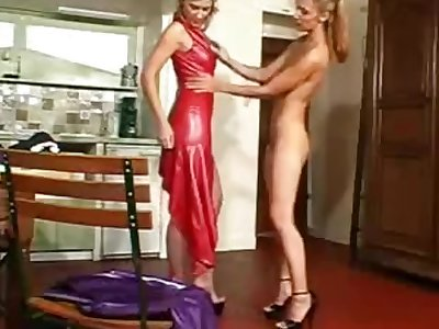 Me in latex maid help my mistress at changing her latex outfit