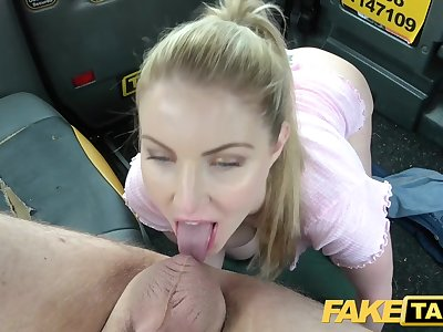 Faux Taxi Blue eyed Scottish babe loves raunchy fucking on back seat of cab