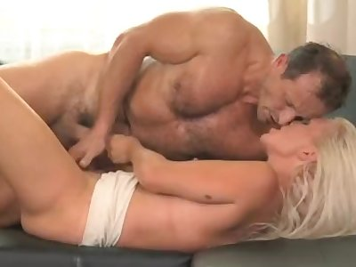 Hot blonde Cougar cumming all over the place
